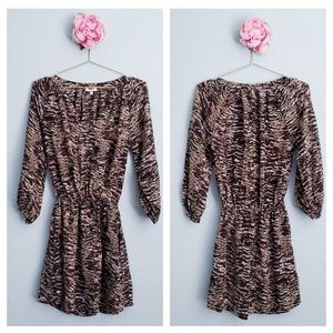 Joie Abstract Animal Molly Dress in Coffee Bean